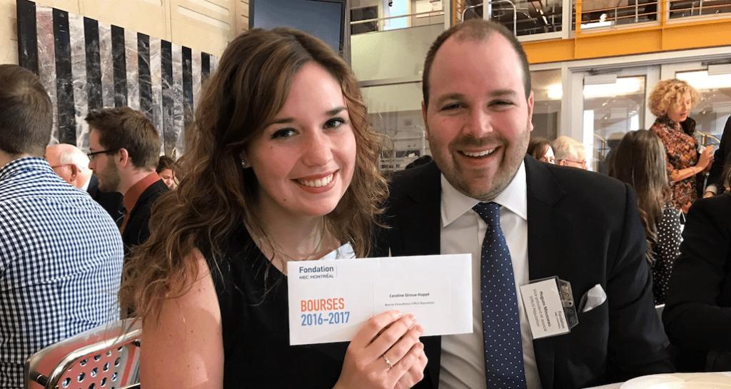 La bourse d'excellence SYRUS – HEC Montréal décernée à Caroline Giroux-Huppé
